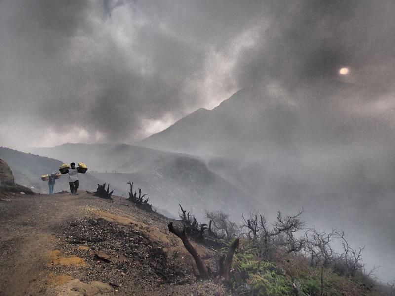 Sulphur mining East Java