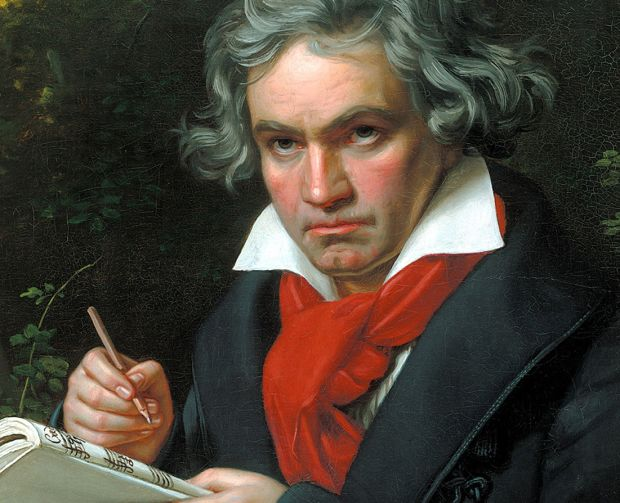 Portrait of Beethoven by Joseph Karl Stieler, 1820 (Photo: WikiCommons)