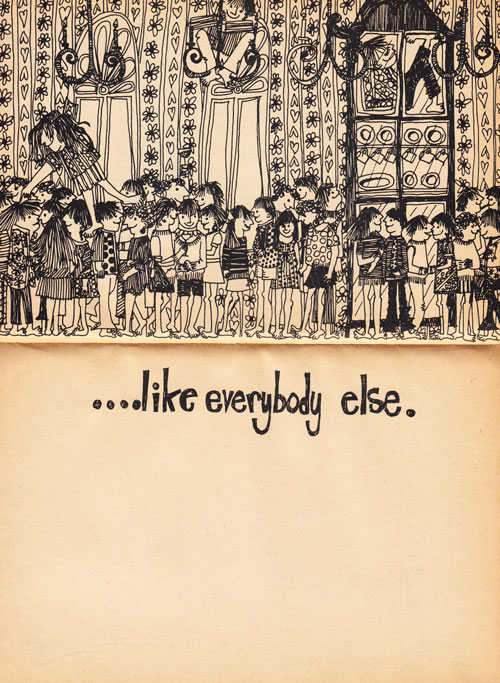 Illustration from 'How to Be a Nonconformist,' 1968.