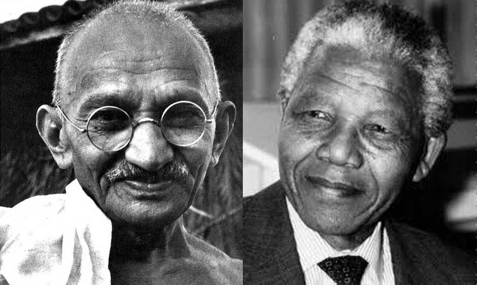 mahatma gandhi and nelson mandela method of struggle