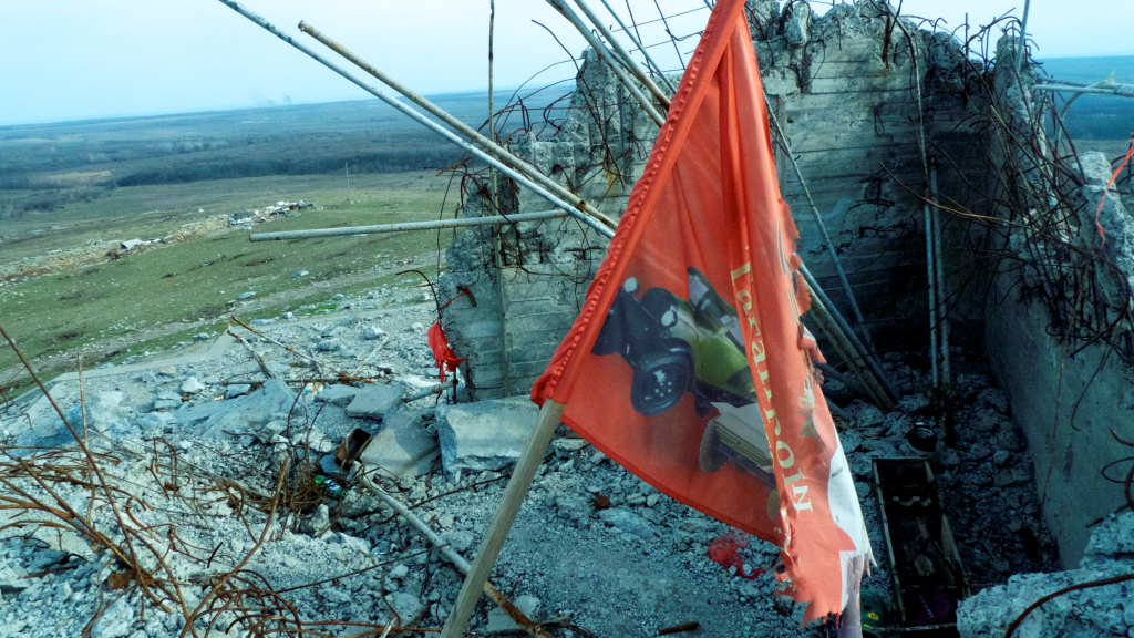 © Sputnik/ Pepe Escobar Top of the hill at Saur-mogila.