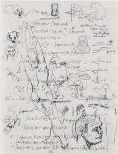 Piece from Richard Feynman's little-known sketches, edited by his daughter.