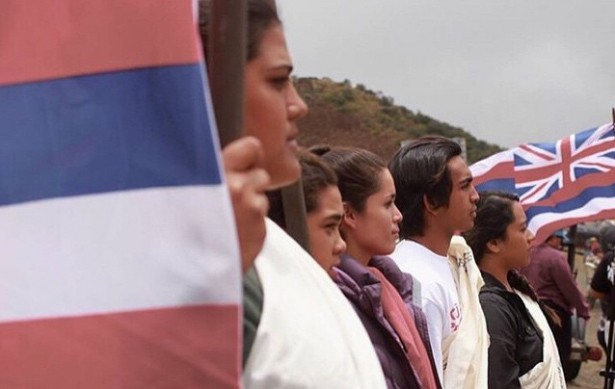 Young protectors gather in support of the protests. (Facebook / Protect Mauna Kea)