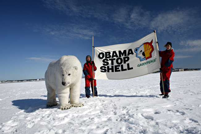 Shell's plan to drill in the Arctic Ocean has been approved by the Obama Administration and many environmental groups are saying the Interior rushed the decision. Photo credit: Greenpeace Finland / flickr