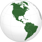 **Orthographic map of the Americas | Author: Martin23230 : Wikimedia Commons