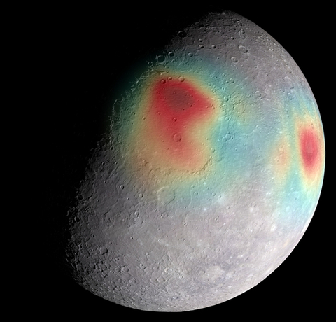 Concentrations of dense material underneath Mercury's surface have a higher gravity than the rest of the planet, causing slight changes in Messenger's orbit. This is used to help determine Mercury's internal structure. Credit: NASA/JHUAPL/CIW