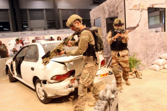 A demonstration at the ISDEF conference (isdefexpo.com)