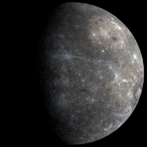 A high resolution mosaic of Mercury from Messenger's first flyby. Credit: NASA/JHUAPL/CIW