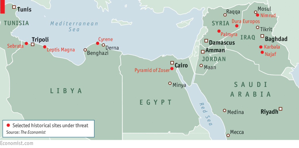 isis arts palmyra syria iraq lamb economist jihad vandalism map historic sites