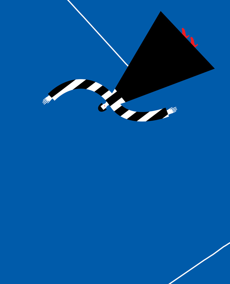 Illustration by Olimpia Zagnoli from 'Mister Horizontal & Miss Vertical' by Noémie Révah.