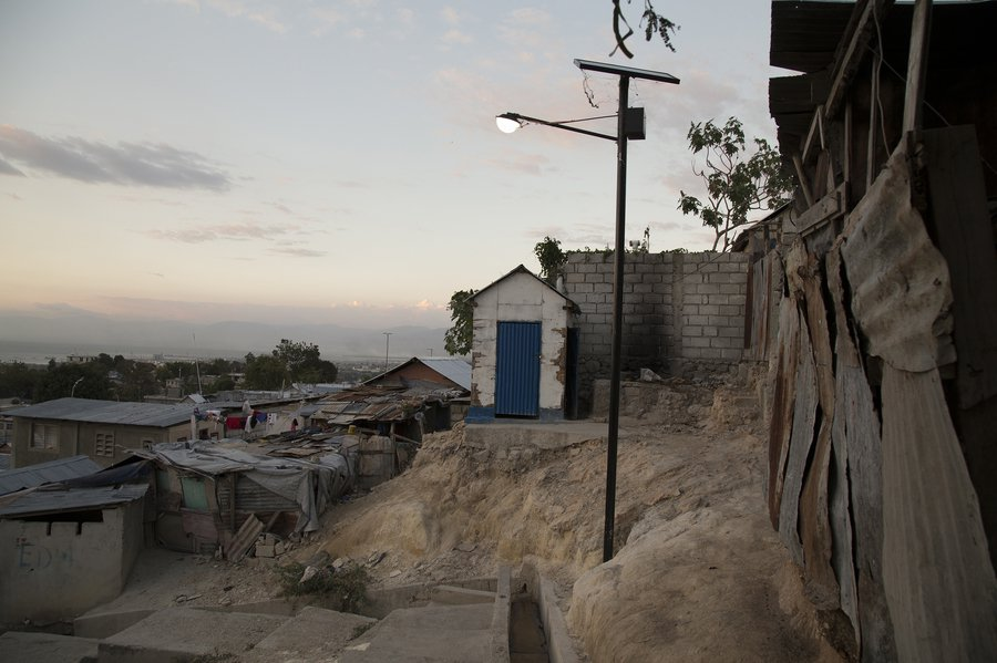 The Red Cross promised to build hundreds of new homes in Campeche but none have been built. Many residents still live in crude shacks. (Marie Arago, special to ProPublica)