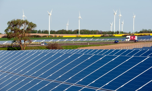 Renewable energy to grow from current levels of providing around a quarter of Europe's energy to supplying half, leaked paper says. Photograph: Alamy