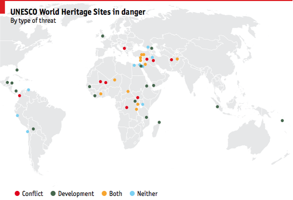 unesco_580 world heritage sites threatened isis