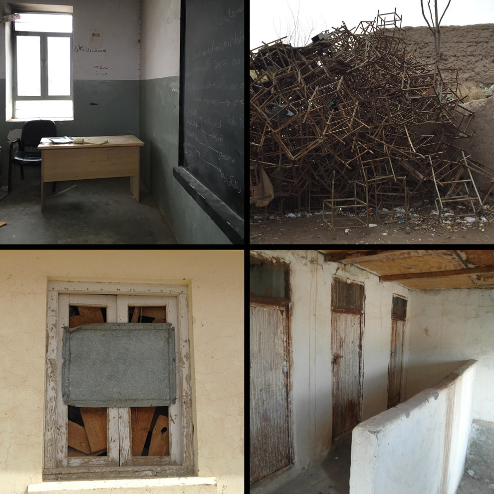 Photos taken from U.S.-funded schools in February and March in Kandahar and Nangarhar provinces. Azmat Khan / BuzzFeed News