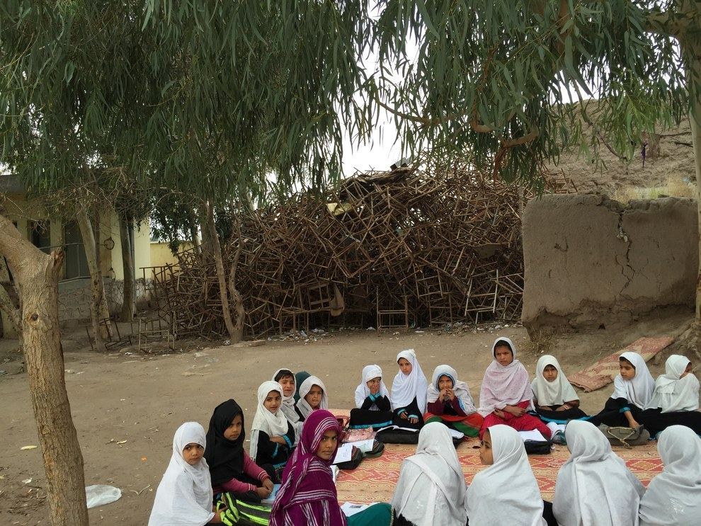 A school refurbished with U.S. funding in Nangarhar province in February. Azmat Khan / BuzzFeed News