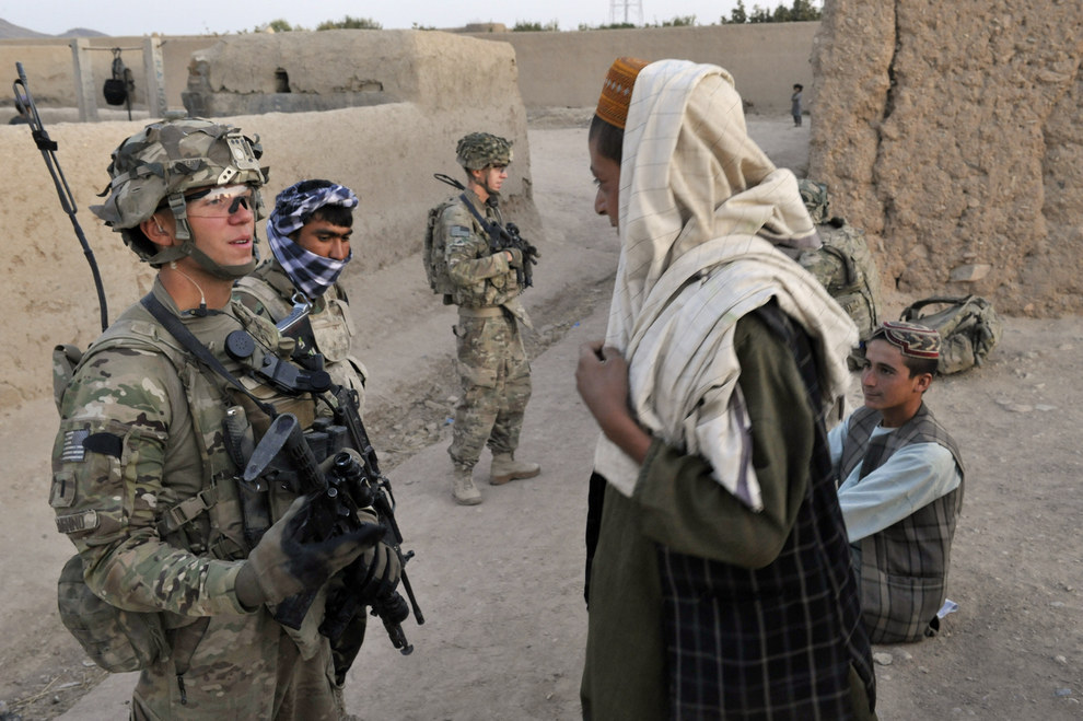 DeNenno on a security patrol in Kandalay village in August 2011. That summer was the deadliest month for U.S. soldiers in Afghanistan since the war began. ROMEO GACAD / Getty Images