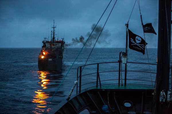 The Thunder illegally burned trash in February. Several governments are considering charges against the ship's owners for illegal fishing and perhaps other crimes, including money laundering and tax evasion. CreditJeff Wirth/Sea Shepherd Global