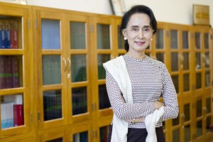 Aung San Suu Kyi this month. (Ye Aung Thu/AFP vua Getty Images)