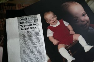Photos of Bucky Bailey as a baby, as well as article clippings his mother, Sue, saved over the years. Photo: Maddie McGarvey for The Intercept/Investigative Fund