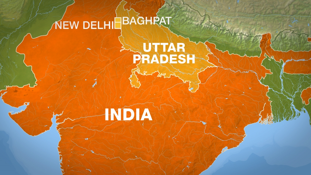 uttar pradesh india map