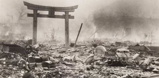 The ruins of Nagasaki the day after the bombing.