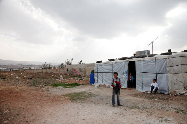 The European refugee disaster is the legacy of the war makers. Pictured: Syrian refugee children in Lebanon. (Photo: DFID / Flickr Commons)