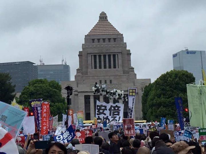 Una immagine della grande manifestazione del 30 Agosto (Foto di Toru iwata)