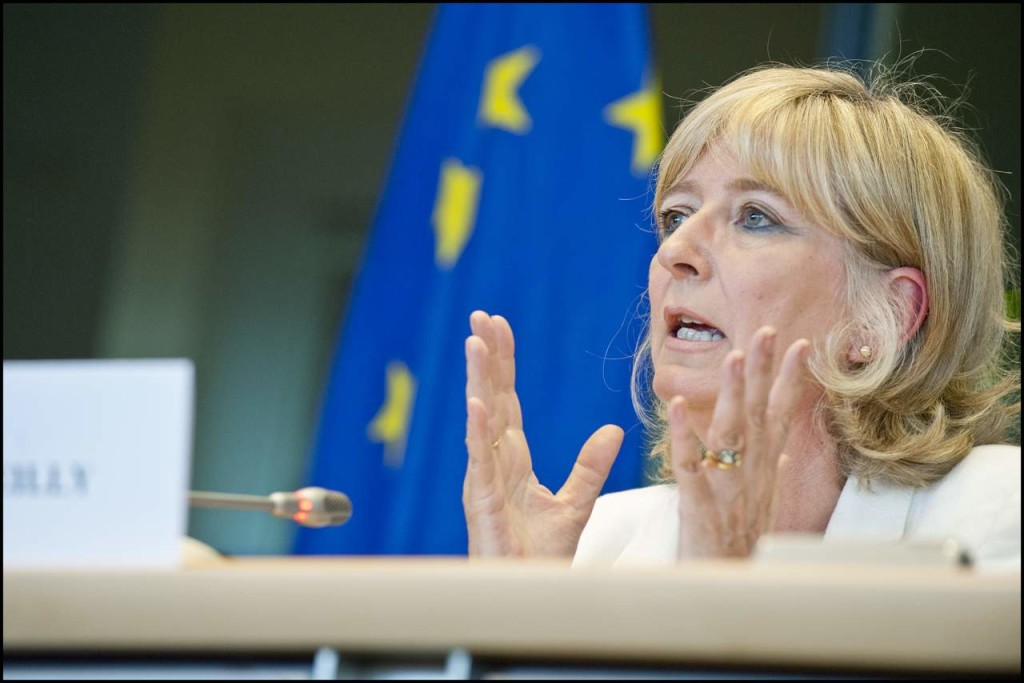 EU Ombudsman Emily O'Reilly, who filed a report on Frontex joint return operations four months ago. Photo via European Parliament