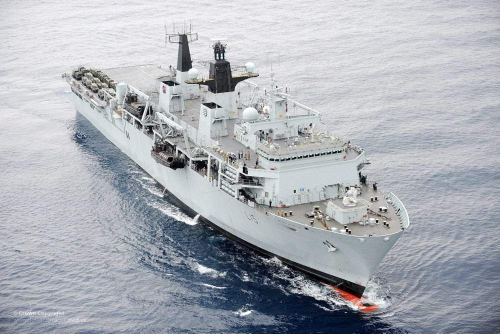 HMS Bulwark, a British ship which went on a search and rescue mission in the Mediterranean earlier this year. Photo via Defence Images