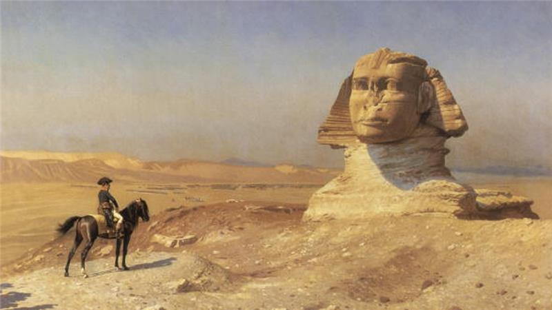 Napoleon Bonaparte at the Sphinx during the Egypt campaign in 1798, painted by Jean Leon Gerome, c 1868 [Getty]