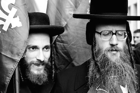 Portraits of Hasidic Jews protesting for a free Gaza. Flickr/Alexis Gravel. Some rights reserved.