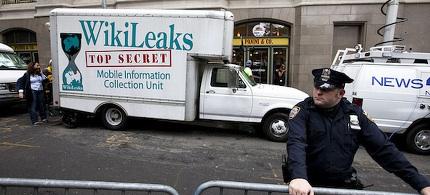 WikiLeaks mobile information collection vehicle. (photo: Bucky Turco)