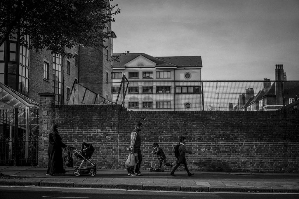 Lisson Grove in northwest London. Sept. 29, 2015. Photo: Andrew Testa for The Intercept