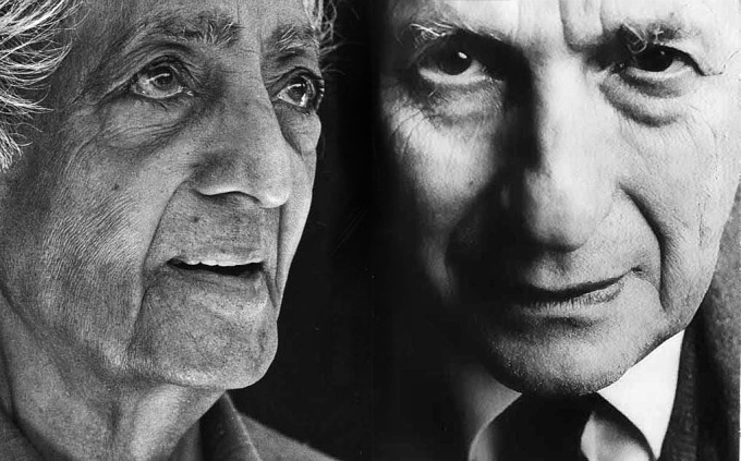 krishnamurtibohm Physicist David Bohm and Philosopher Jiddu Krishnamurti