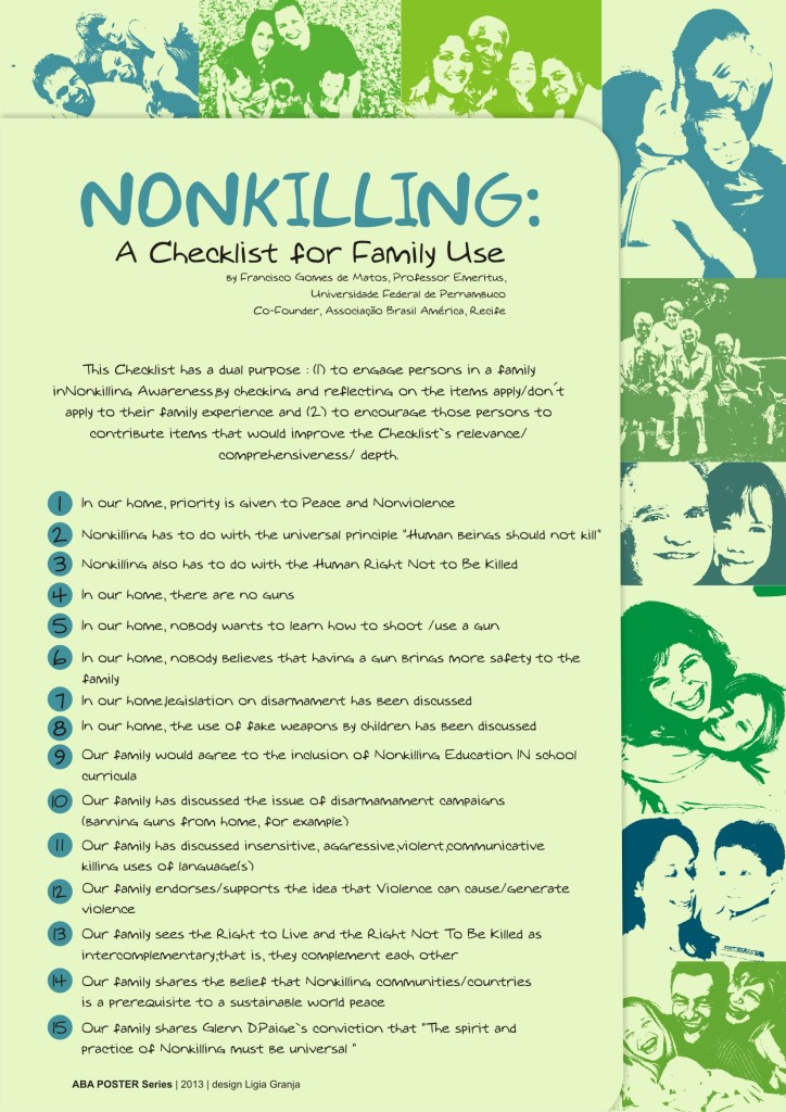 nonkiling checklist for family use
