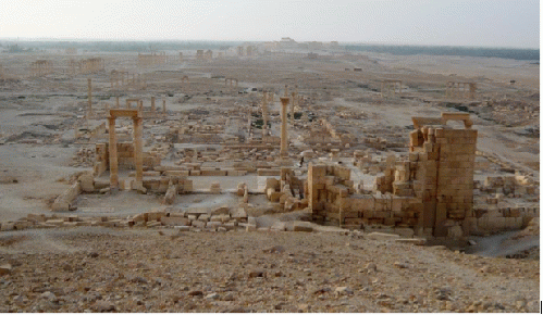 Palmyra in early May 2015 before the arrival of Da'ish (ISIS). As of early October 2015 it is not known precisely what has been spared. (Photo: fplamb)