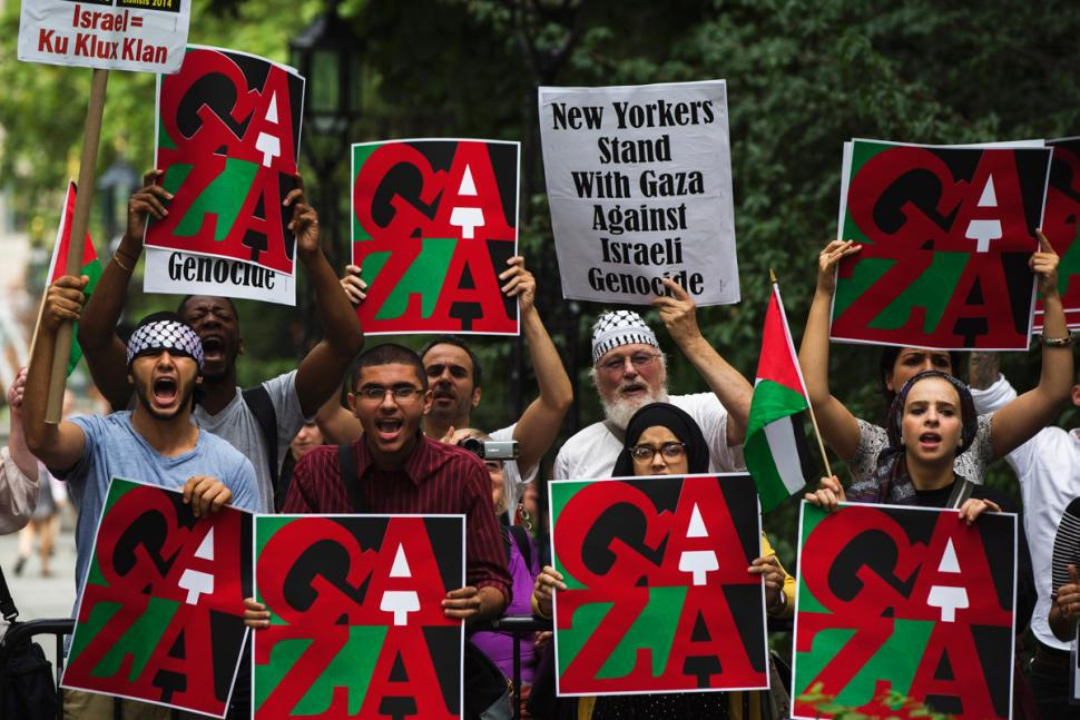 Manifesting a new antisemitism? Protests in New York at support given by NY politicians for Israel during its 2014 attack on Gaza, July 2014. Photo by Lucas Jackson / Reuters