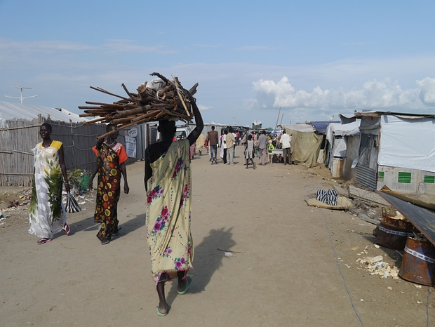 The IDP camp in Malakal, South Sudan. Photograph: Sam Jones for the Guardian