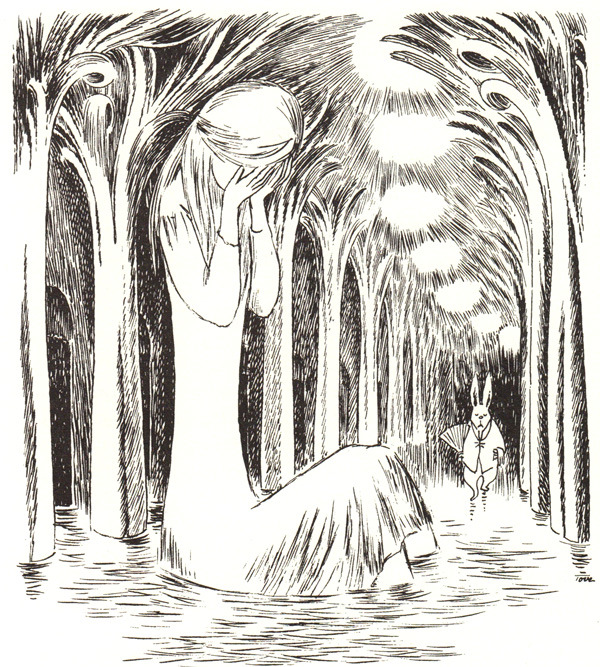 Illustration by Tove Jansson for a rare edition of Alice in Wonderland.