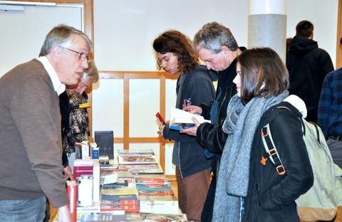 The literature table at the Frankfurt meeting