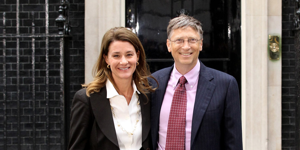 Bill & Melinda Gates. Photo: Oli Scarff/Getty Images
