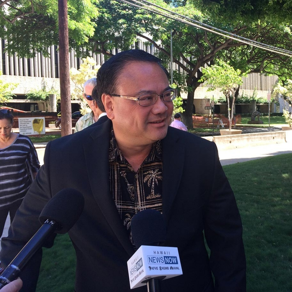Kelii Akina is the president of public policy think thank Grassroot Institute of Hawaii and a plaintiff in a lawsuit that challenged the Native Hawaii election in federal court in October.Audrey McAvoy / AP