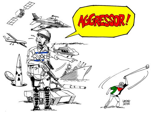 israel-palestine-intifada-355a1-98ef2 agressor gaza idf cartoon