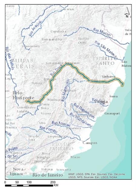 rio doce brasil brazil dam barragem mapa2