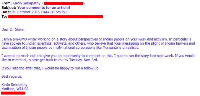 I had to look up Kavin Senapathy when I got this email from her.