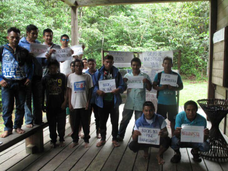 Members of ACIYA Indigenous organization (Fundacion Gaia Amazonas, 2014)