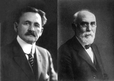 """Albert Michelson (1852-1931), who experimentally showed light appears to move at the same speed even on a moving platform, and Hendrik Lorentz (1853-1928), who provided the first ad-hoc """"corrections"""" to explain this puzzling result."""