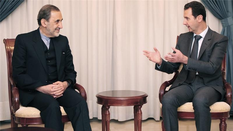Ali Akbar Velayati, a top adviser to Iran's supreme leader Ayatollah Ali Khamenei met Syrian President Bashar al-Assad in Damascus on November 29 [EPA]