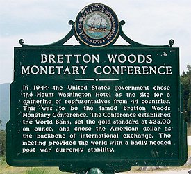 brettonwoods institution The united nations monetary and financial conference was held in july 1944 at the mount washington hotel in bretton woods, new hampshire, where delegates from forty-four nations created a new international monetary system known as the bretton woods system.