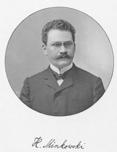 Hermann Minkowski, who first expressed relativity theory in a geometric, rather than algebraic, framework